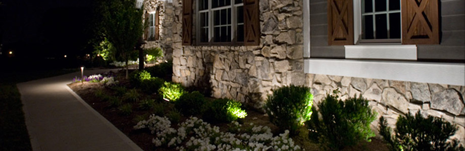 LED Retro-fit Landscape Lighting Transformations from Inspired by Glass in St. Louis, Missouri