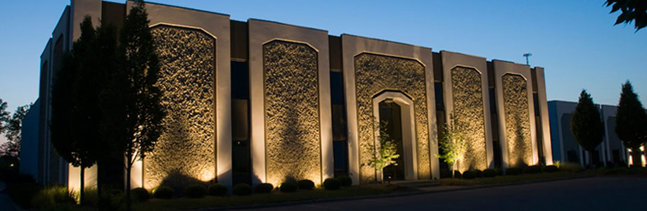 Commercial Landscape Lighting Transformations from Inspired by Glass in St. Louis, Missouri